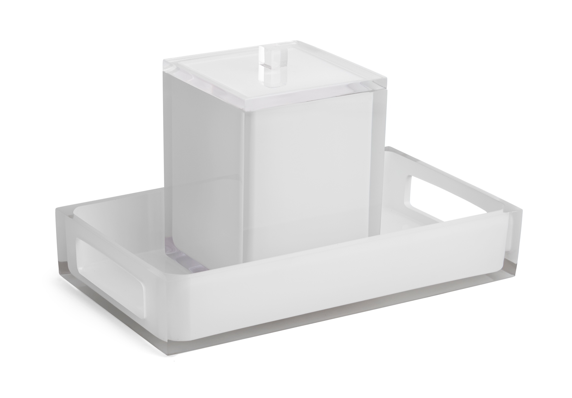 Cubix White Bar Set image